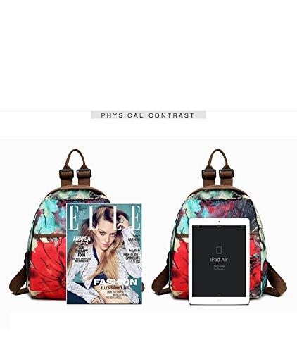 Colorful Messenger Casual Satchel Waterproof Bag Pattern D Women Oxford Bag Crossbody Bag Backpack Backpack Print Shoulder TYPqwF