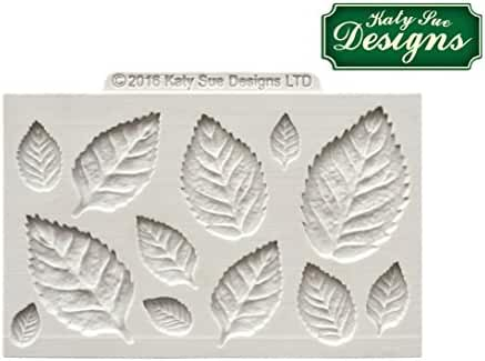 Katy Sue Design Mat Fondant Cake Icing Craft Mould - Rose Leaves