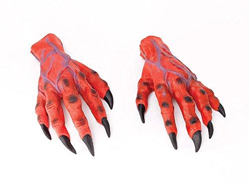 Bristol Novelty MD161 Horror Hands, Unisex-Adult, Red, One -