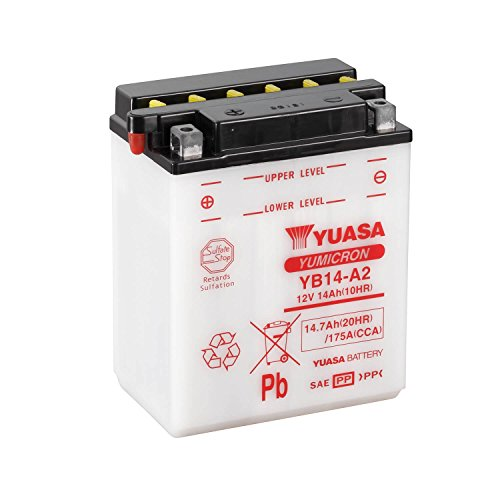 Yuasa YB14-A2 combipack batterij met elektrolyt