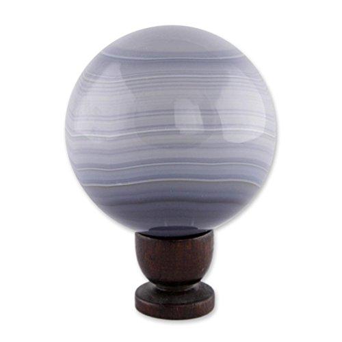 Novica  Supersonic Ash Agate Ball Sculpture