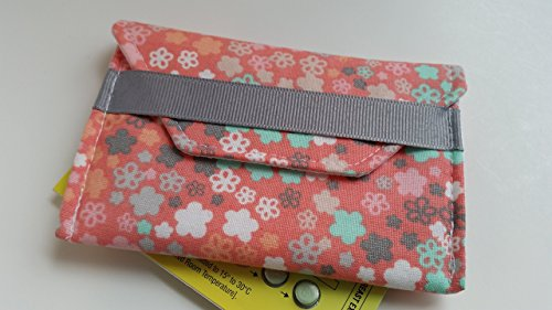 Birth control ribbon case- Discrete pill holder- Peach, mint, and grey by LaviLor Bags