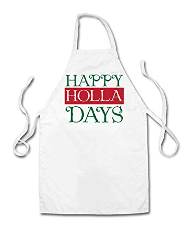 Happy Holla Days - Unisex Fit Apron - White - One - Clothing Holla