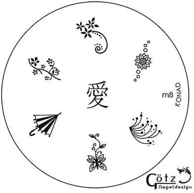 Placa de Diseños Konad Original. m 8, Plantilla para uñas Konad España: Amazon.es: Belleza