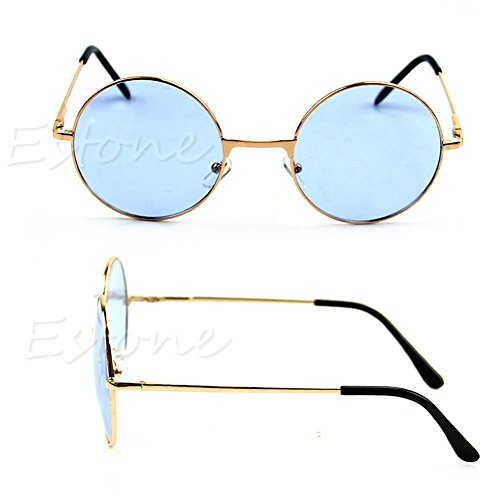 Women Colorful Lens Sunglasses Eyewear Plastic Frame Glasses Retro Round - Cartier Frames Wood