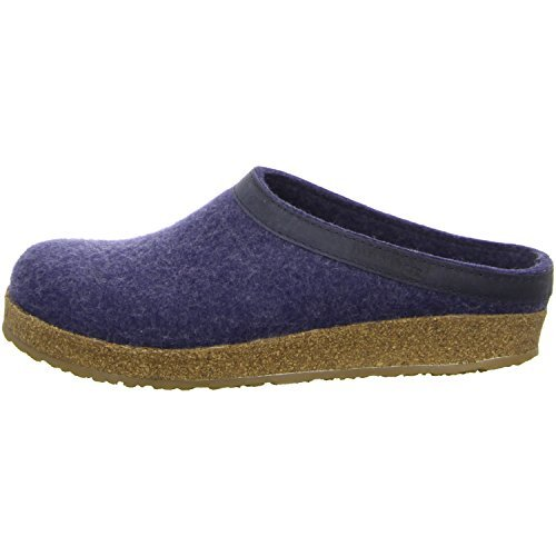 Denim Leather Clogs (Haflinger Women's GZL Clog, Denim, 41 EU/10 M US)