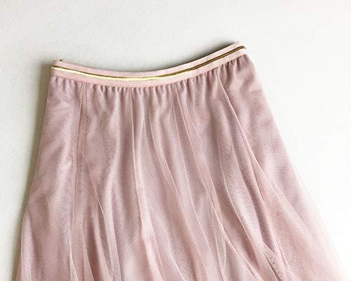 Jupe Maxi Casual Femme Pliss Plage de Longue Taille Pink Haute Jupes qpY0Pw0