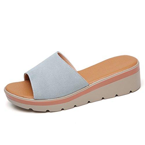 Lumino Pantoufles En Pantoufles Chaussures Round Chaussures Forme Toe Suède Plate Femmes On Femmes 806 Slip Glissières Green Tongs Cuir Dames rfwq5r