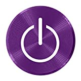 Xtra-Funky Exclusive Shiny Aluminium Home Button Stickers with Power Symbol For iPhone 3/3G/3GS/4/4S/5/5S/5C/6/6Plus, iPod Touch (All Gen) & iPad 1/2/3/4/5/Mini 1/2/3/Air 1/2 - Purple