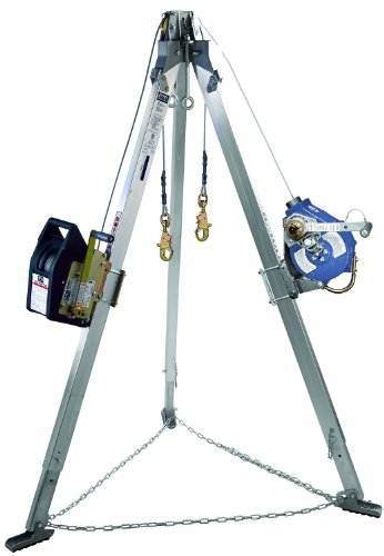 3M DBI-SALA Advanced 8304011 Confined Space Kit Tripod Winch and Sealed 3-Way SRL with Stainless Cable Mounting Brackets Carrying Bags and Leg Mount Pulley by 3M Fall Protection Business