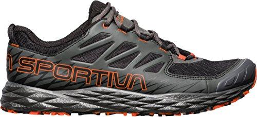 La Sportiva Lycan, Chaussures de Trail Homme, Noir, 47 EU Multicolore - Noir/Orange (Black / Tangerine 000)