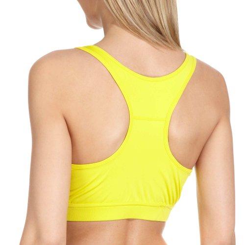 Sport BH tamaño s M L XL, mujer Front Animales, mujer fitness Top Sujetador sporttop BH unidad, tamaño S–XL amarillo