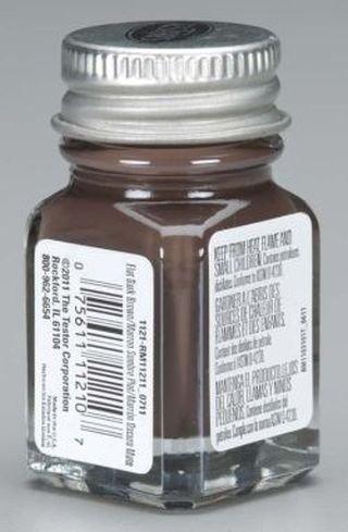 Dark Brown Enamel Paint Testors 1/4 Oz -