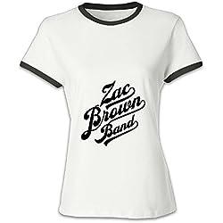 Women's Black T Shirt Black Out The Sun Tour Zac Brown Band