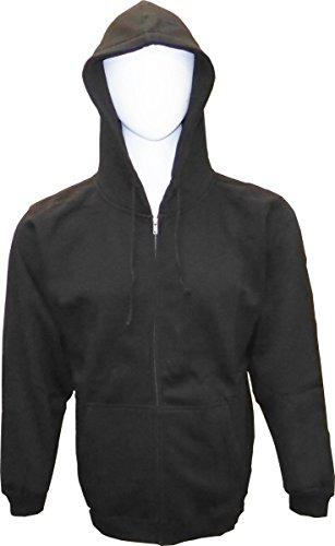 SPECIEN Adult Full Cover Zipper Hooded Fleece Sweatshirts Hoodie (Black, X-Large) (Pullover Cover Hoodie)