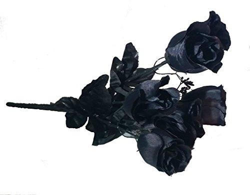 Dead Flowers (Artificial black roses (buds) bouquet)