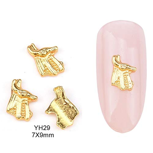 Nails Art Accessories - 10Pcs Alloy Gold Jesus Nail Studs Mermaid 3D Unicorn Nail Charms For Nails Decorations Nail Jewelry And Decorations 3D Nail Art Nail Art Supplies - Style 29 -