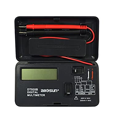 all-sun Digital Multimeter / Multi Tester/ Volt Meter/ Ampt Meter/ Diode/ Resistance and Test Pocket Size