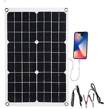 Amazon com: Lixada Solar Panel Charger with Dual Output 5V/18V USB