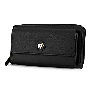Nautica Bulk Cargo Womens RFID Wallet Clutch Zip Around Organizer