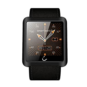 Netspower U10L inteligente reloj Mobile Anti - perdido Bluetooth 3.0 Diseño con manos libres de llamadas / llamada Vibración / Seguimiento podómetro / Muñequera Sleep monitor / Vibración Masaje / identificador de llamadas de teléfono de llamada Sync y la exhibición del tiempo del LED para IOS iPhone Android Samsung HTC LG SONY y la mayoría de smartphones (Negro)