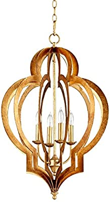 Cyan Designs 05973 Chandelier with No Shades, Gold Leaf Finish
