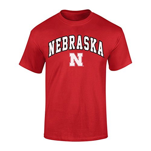 Elite Fan Shop Nebraska Cornhuskers Tshirt Arch Red - L ()