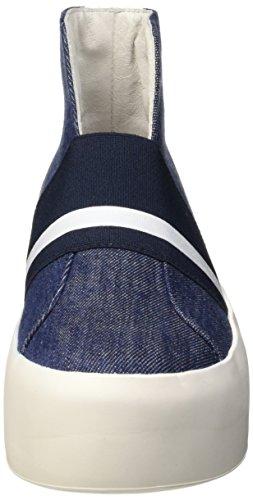Bikkembergs Pow-er 603 M.Shoe W Denim/Elastic, Zapatillas Altas para Mujer Azul (Blu)
