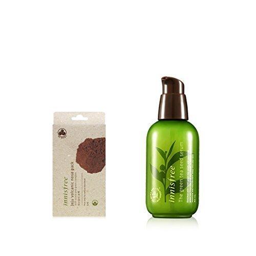 Innisfree Jeju Volcanic Nose Pack + The Green Tea Seed Serum