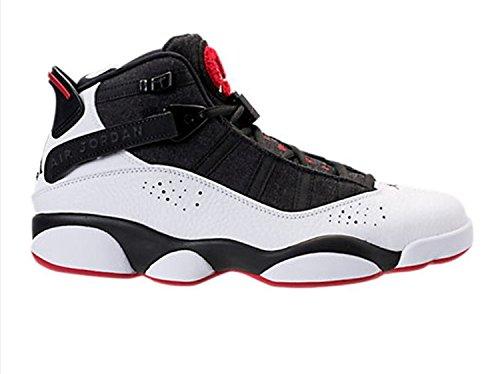 Nike Herren Jordan 6 Ringe Schwarz / Weiß-Rot Leder