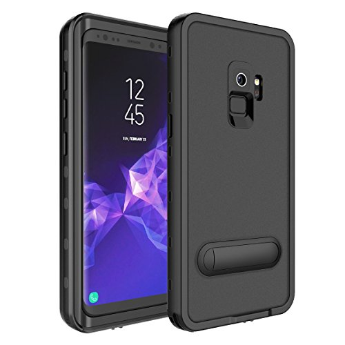 Galaxy S9 Waterproof Case, iThrough Shock Proof Dust Proof Snow Proof Dirt Proof Phone Case, Full Sealed IP68 Underwater Heavy Duty Protective Carrying Case Cover With Kickstand for S9