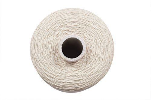 Warp Thread for Weaving Loom - 1 Spool of 850 Yards 8/4 Warp Yarn 100% Cotton - Natural/Off White Color - Perfect Warping Thread for Weaving Tapestry Carpet Rug Blankets and Other Patterns