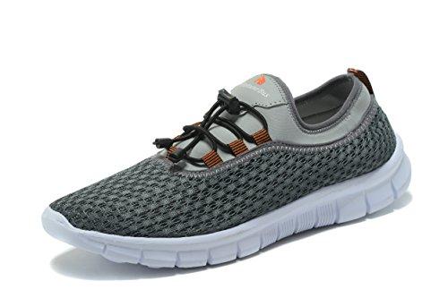 Fortunebus Herren Laufschuhe Walking leichte Casual Athletic Sneakers Atmungsaktiv Grau