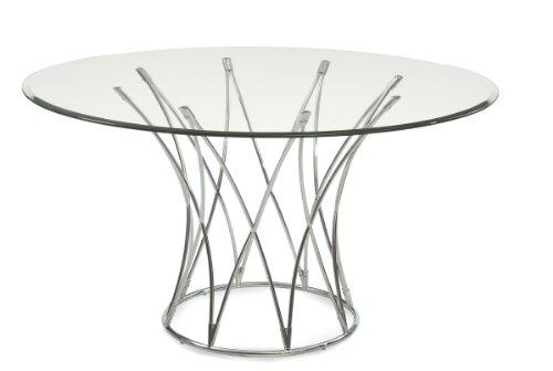 Bassett Mirror Mercer Round Dining Base, Chrome by Bassett Mirror Company