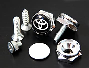 toyota license plate frame bolts screws
