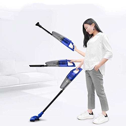 BBG Household Goods,Wireless Vacuum Cleaner 2-in-1 Hand-Held/Push-Rod Vacuum Cleaner Light and Quiet 0.8L Dust Bucket 100W High-Power Rechargeable Lithium ()