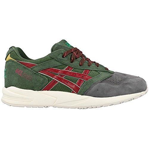 Asics - Zapatillas de Piel para hombre Verde verde