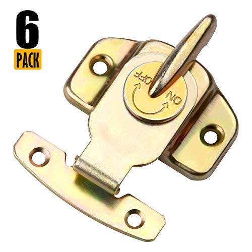 Eliseo 6 Pieces Metal Table Locks Dining Training Table Buckles Connectors, Color Zinc-Plated Table Leaf Latch Hardware Accessories ()