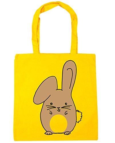 Bag Beige rabbit Gym Shopping HippoWarehouse Tote Yellow x38cm Bunny 42cm Beach 10 litres Tqxa0