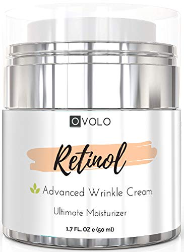41Zdgxn%2BI L - OVOLO Moisturizer Cream with Retinol for Face and Eye Area - BEST NEW 2019 Skin Care Option Formulated with Premium Ingredients (USA Made) - Anti Aging Rapid Wrinkle Repair Cream for Day and Night