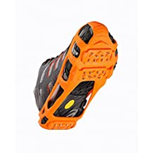 IMPACTO WALK-300-01 Stabilicers Walk Traction Cleats, Small Men 4-7, Women 5-8, Orange