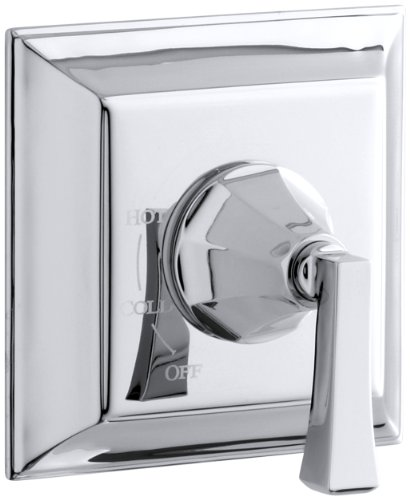 Kohler TS463-4V-CP Memoirs Series Deco Lever Handle, spout, 2.5 gpm showerheadStately Rite-Temp Bath and Shower Valve Trim Polished ()