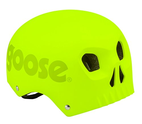 Mongoose MG78332-2 Street Youth Skull Hardshell, Neon Yellow