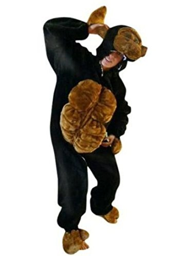 Gorilla Costumes Cage (Fantasy World Adults Gorilla Costume Halloween for Men and Women, Size: XL / 16-18, F17)
