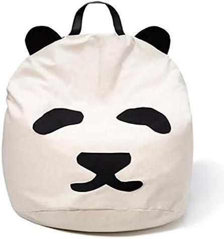 60cm JYB Panda Extra Sitzkissen,Gro/ße Beanbag Gef/üllt Weich Premium Canvas Stuhlpads F/ür Kinder Und Erwachsene A 60