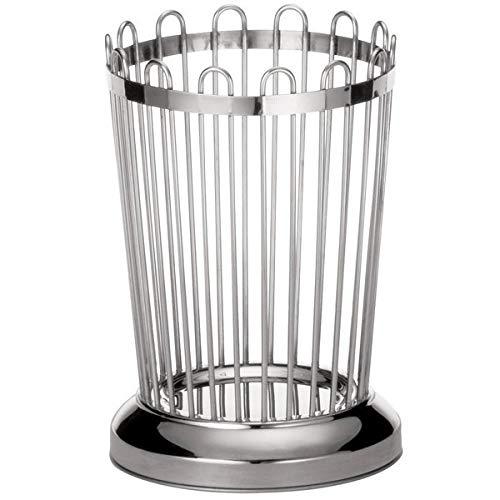 TableTop King 258 Round Stainless Steel Regent Breadstick Basket - 3 1/4'' x 5 1/4''