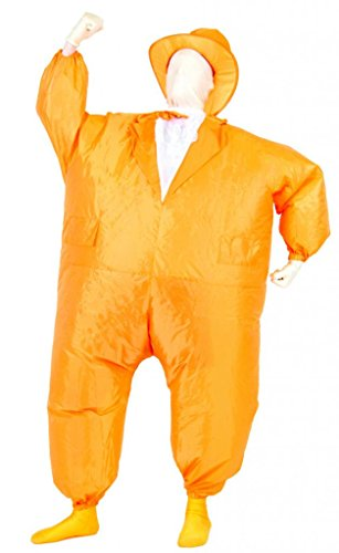 Tuxedo Tux Inflatable Teen Chub Suit Costume (Orange) (Inflatable Halloween Costume)