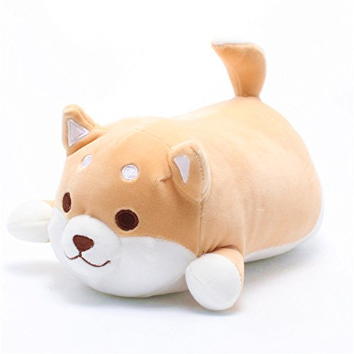 elfishgo Corgi Dog Plush Toys Creative Shiba Inu Dog Butt Shaped Plush Soft Pillows 21'' (Brown) - Shiba Inu Cats