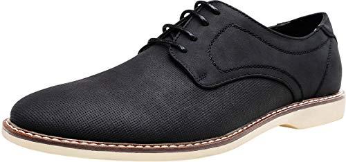 JOUSEN Men's Oxford Shoes Classic Breathable Shoe Plain Toe Business Casual Shoes Men (9.5,Brethable Business Dress-640-Black) (Best Mens Business Casual Shoes)