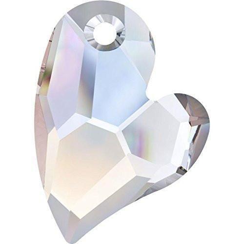 6261 Swarovski Pendant Devoted 2 U Heart - Designer Edition | Crystal AB | 17mm - Pack of 1 | Small & Wholesale ()